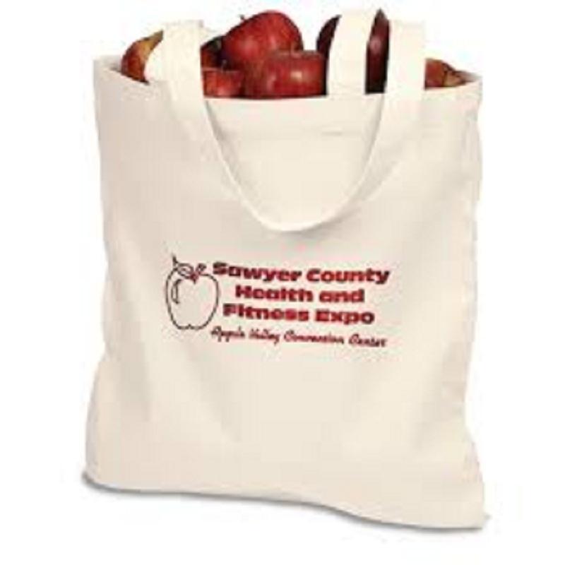 LOGO PRINTED COTTON SHOPPING HAND BAG - Large Export Wholesale LOGO PRINTED COTTON SHOPPING HAND BAG