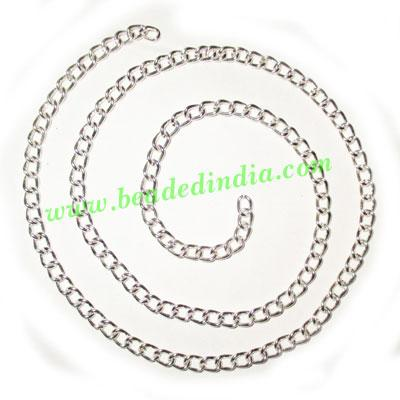 Silver Plated Metal Chain, size: 1x4mm, approx 36.9 meters i - Silver Plated Metal Chain, size: 1x4mm, approx 36.9 meters in a Kg.