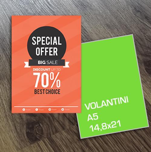 Volantini a5 - stampa online di volantini a5