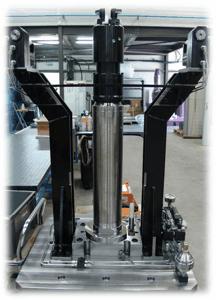 Montage usinage aéronautique  - Montage usinage aéronautique pour usiner un train d'atterrissage