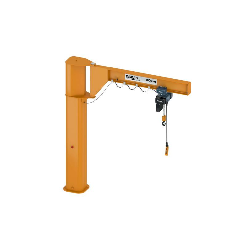 Demag pillar-mounted slewing jibs - Switch to improved productivity and ergonomics -  Pillar-mounted slewing jibs