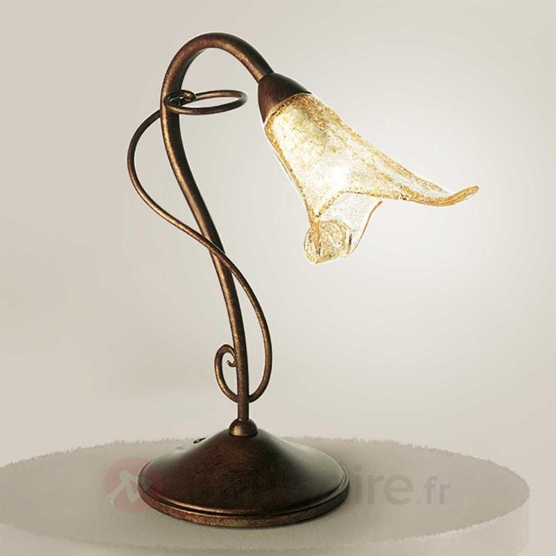 Lampe à poser Riccardo en forme de fleur - Lampes de chevet