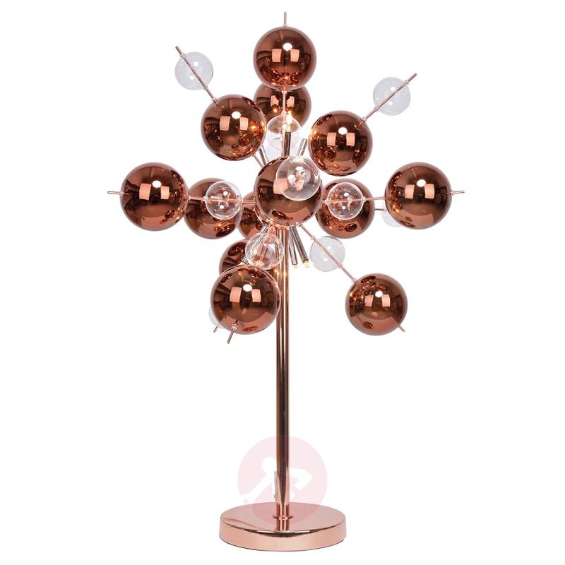 Explosion - interesting table lamp in copper - indoor-lighting