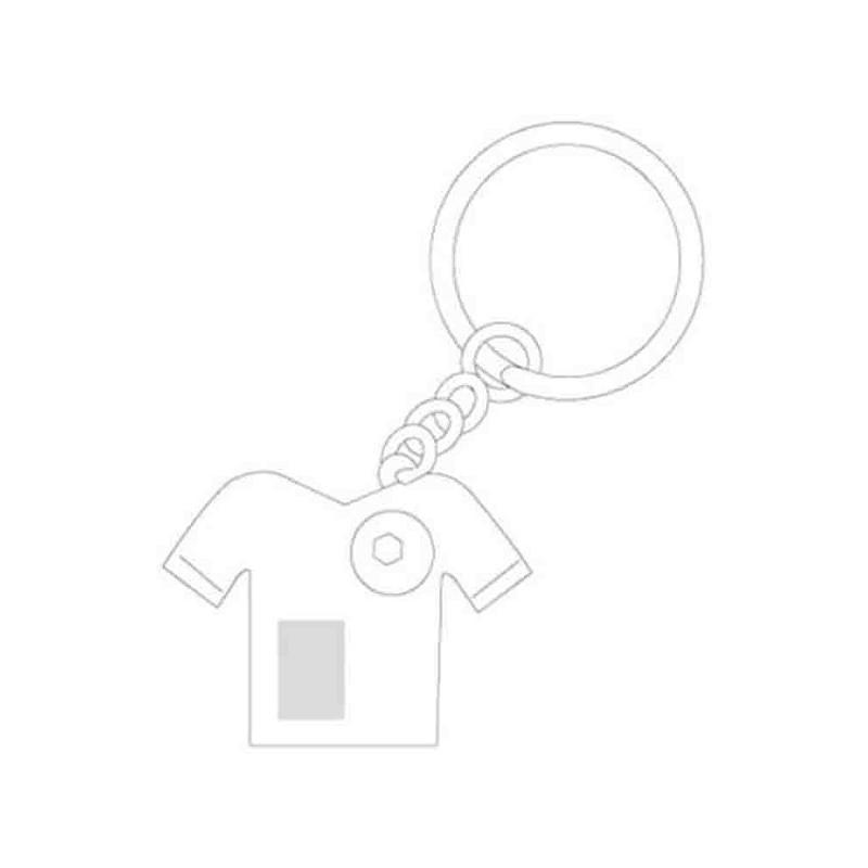 Porte-clef maillot ballon foot métal brillant et mat - Porte-clés métal