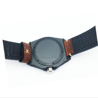 carbon fiber watch GCC18004C - luminous 100% real forged carbon fiber mechanical watch manufacturer in china