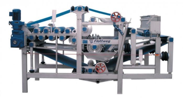 Prensa banda de Flottweg - Prensa banda para deshidratar y filtrar en la producción de zumo, etc.