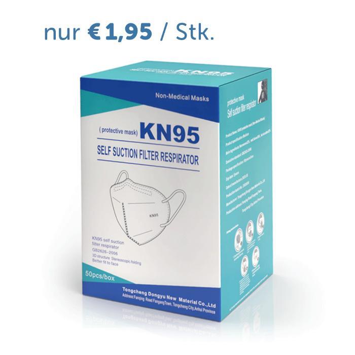 Atemschutzmaske KN95 / FFP2 - 50 Stück