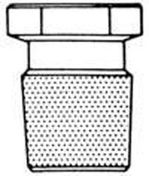 Bouchon court hexagonal plat rode  - SAV