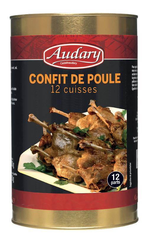 CONFIT DE POULE BOITE 5/1 12 cuisses - Epicerie salée
