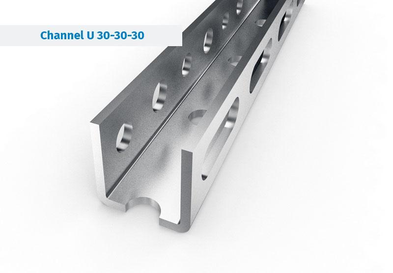 Szyny montażowe do systemów wentylacji i klimatyzacji - Szyna Montażowa w instalacjach wentylacji i klimatyzacji, perforowane i gładkie.