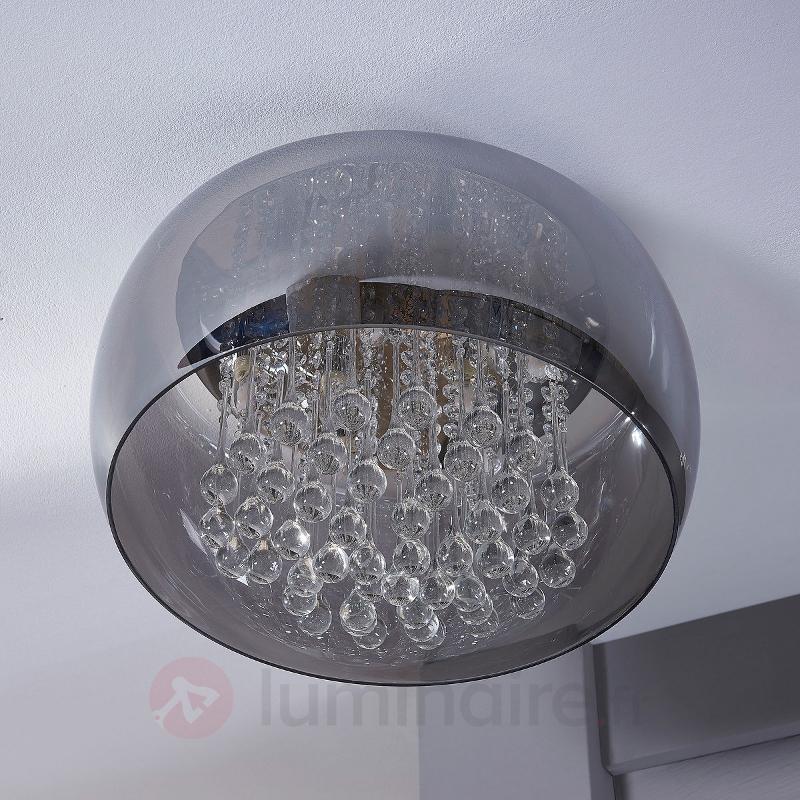 Plafonnier LED en cristal chic Leona - Plafonniers en cristal