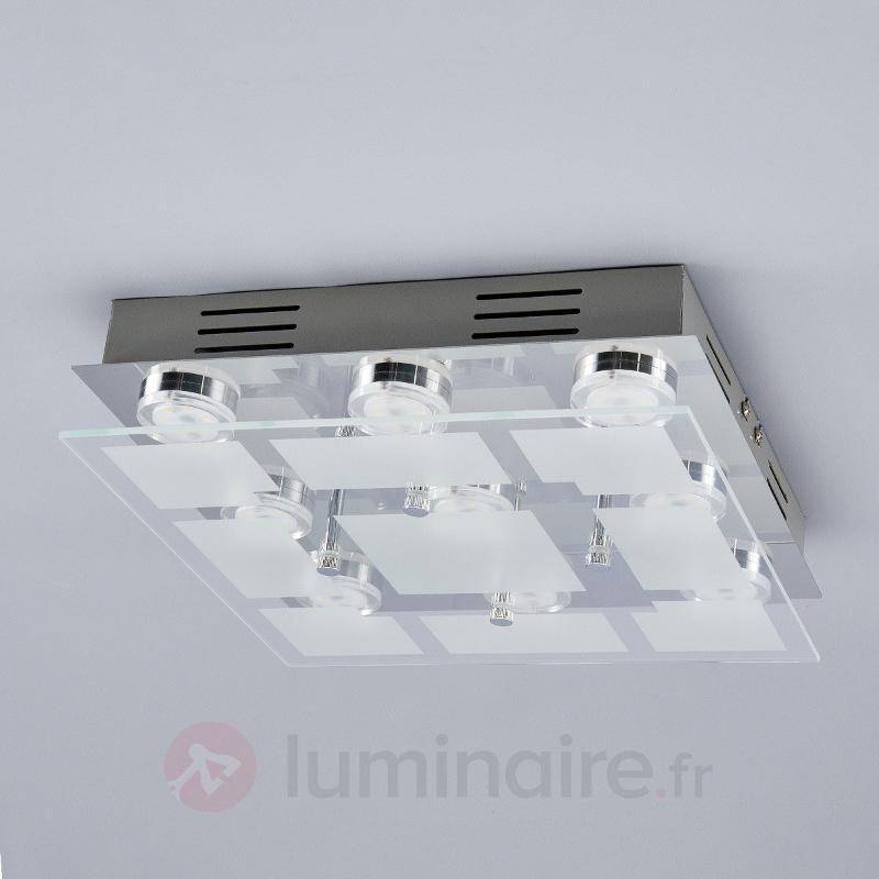 Plafonnier LED Karlina carré - Plafonniers LED
