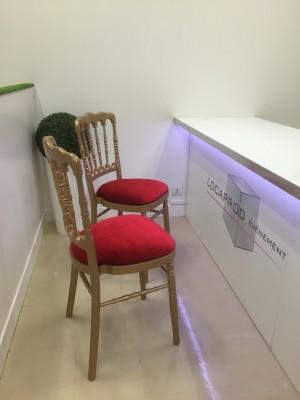 Location de chaise napoléon dorée - Assise - null