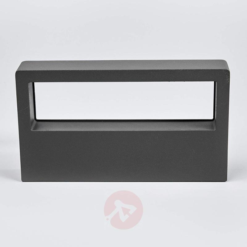 Dark grey LED wall lamp Sava for outdoors - outdoor-led-lights