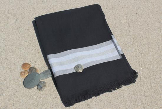 Toalha de Praia - Toalha de Praia  com fundo preto