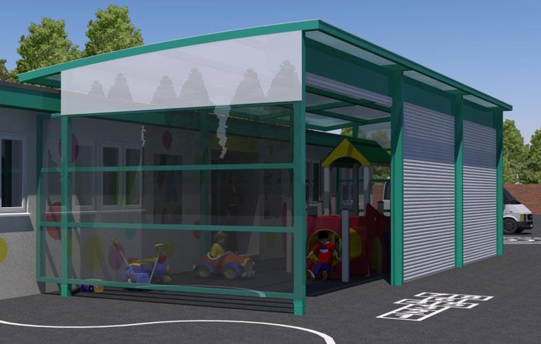 School canopy - Playing area