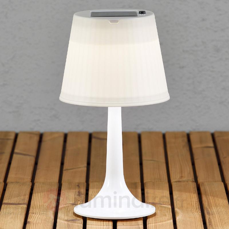 Lampe à poser LED solaire blanche Assisi Sitra - Toutes les lampes solaires
