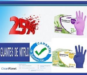 25% de Dcto. en guantes de nitrilo sin polvo softskin, touch - 25% de Dcto. en guantes de nitrilo sin polvo softskin, touch morado