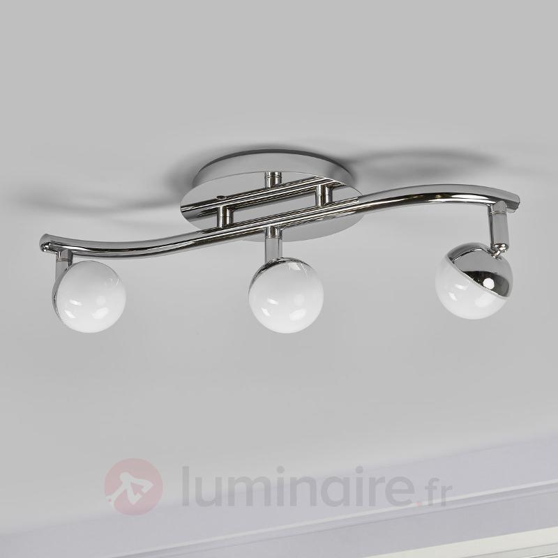 Plafonnier LED Olivine à 3 lampes, télécommande - null