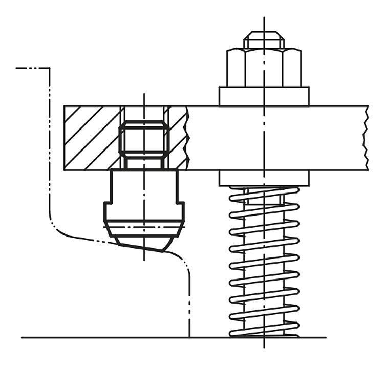 Опоры подвижные - K0282