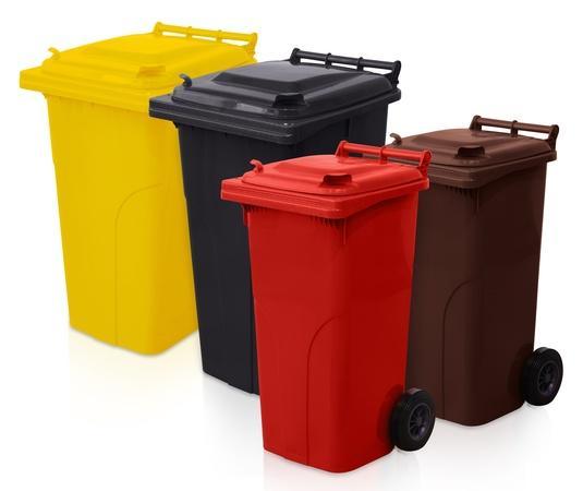Plastic waste container -