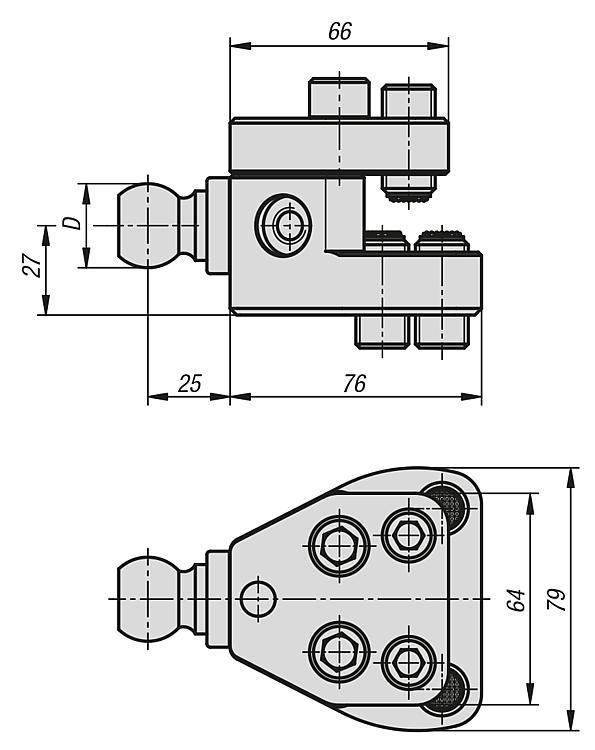 Bride de serrage pour stabilisateur de pièce - Éléments d'appui et de support