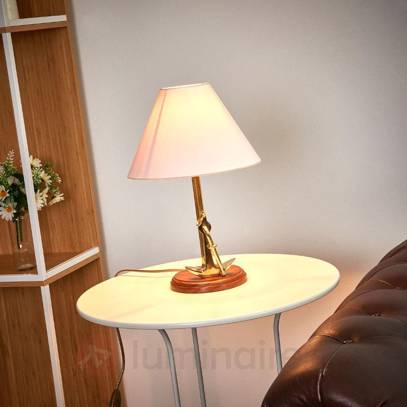 Lampe à poser ANCHOR unique laiton - Lampes à poser en bois
