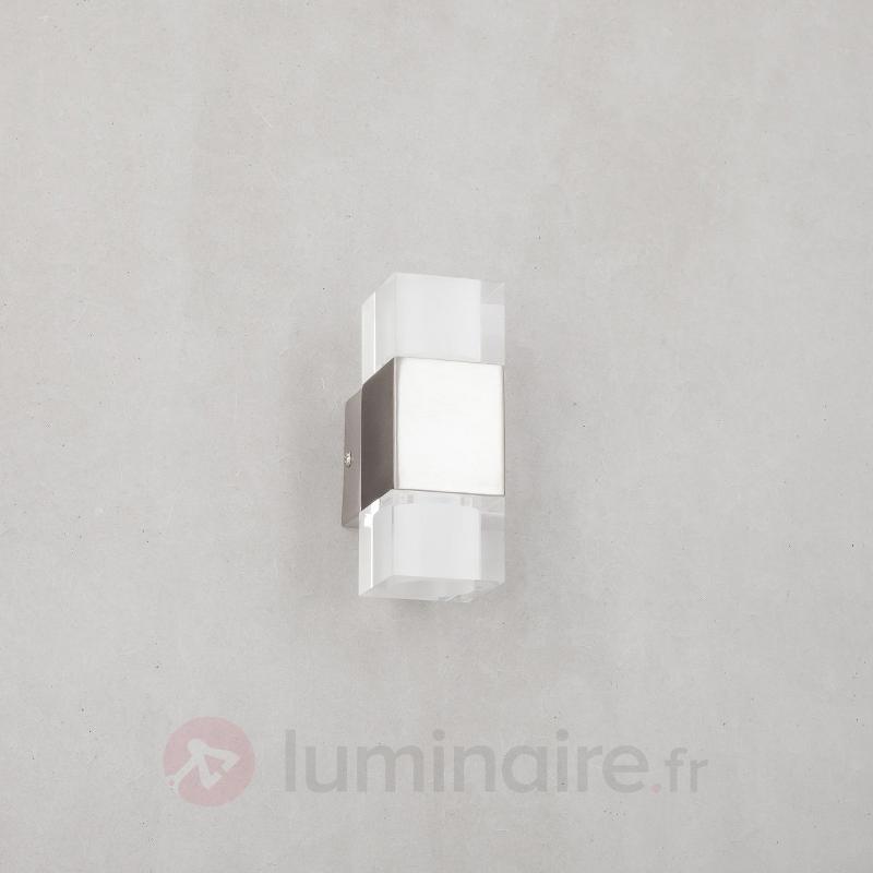 Applique LED carrée Lucian à 2 lampes - Appliques LED