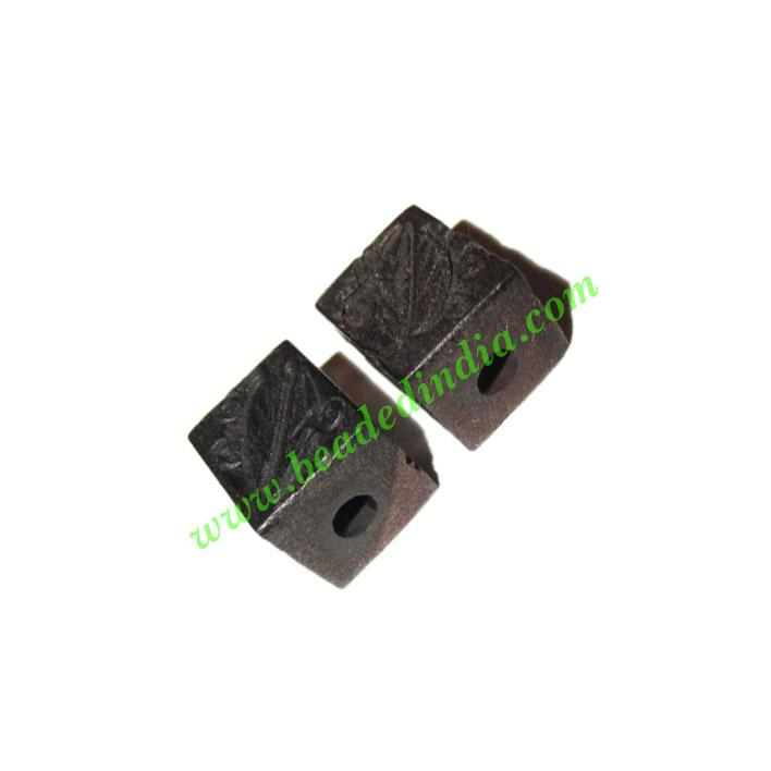 Wooden Ebony Beads, color black, size 10x12mm, weight approx - Wooden Ebony Beads, color black, size 10x12mm, weight approx 1.01 grams
