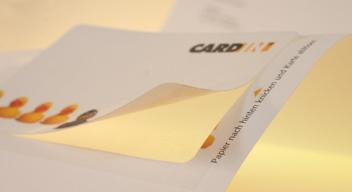 CARD-IN® – Smart Cards - Integrated Cards as Customer Card, ID-Card and Advertiser