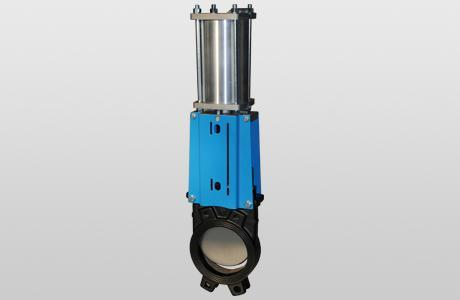 Knife-gate valve WGE-PD. - onedirectional - double acting - GG-25