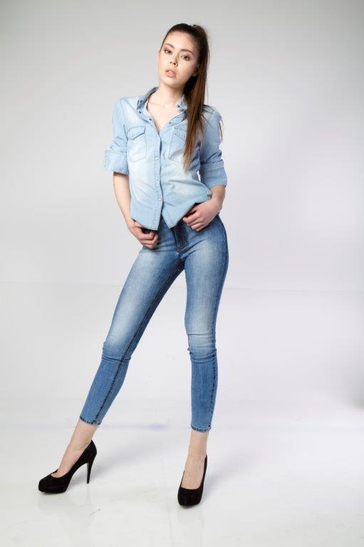 Trendy Popular Best Price Skinny Spreyed Used Effect Women B