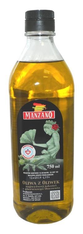 Oliwa Extra Virgen 750 ml but.szklana - Najwyższej kategorii oliwa z oliwek