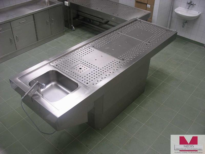 Autopsy Table with Pedestal, Stationary - MA-0977