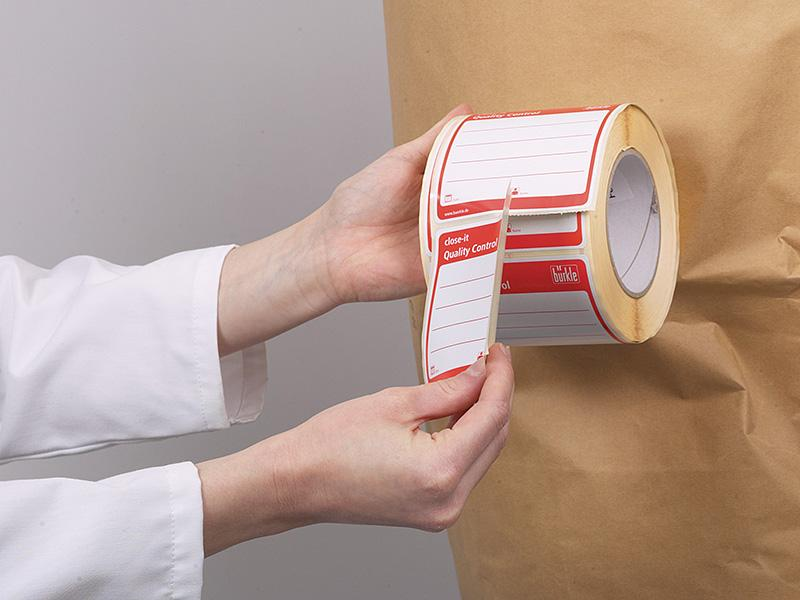 Etiquetas selladoras close-it 95x95 - Accesorios de muestreo, el muestreo de sacos, cartones, big-bags