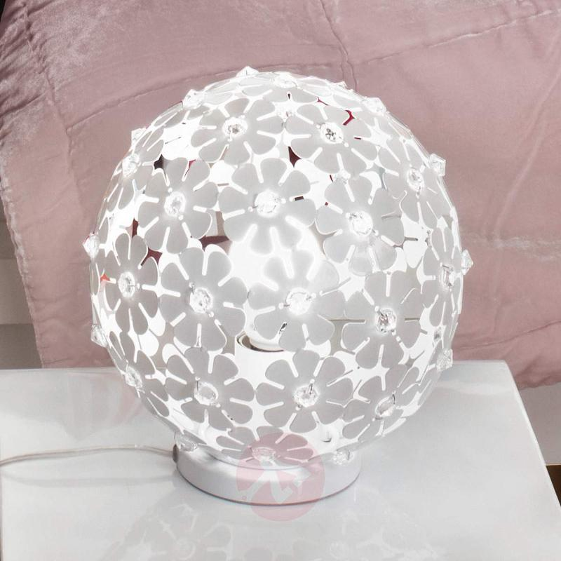 Spherical Hanifa metal table lamp with flowers - Bedside Lamps