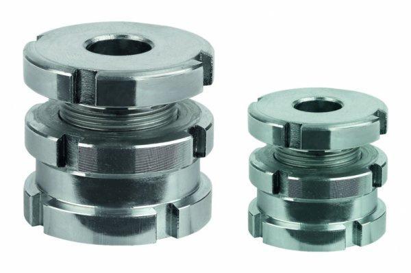Höhenverstell-Elemente mit Kontermutter - Höhenverstell-Elemente mit Kontermutter, normale und kurze Ausführung.
