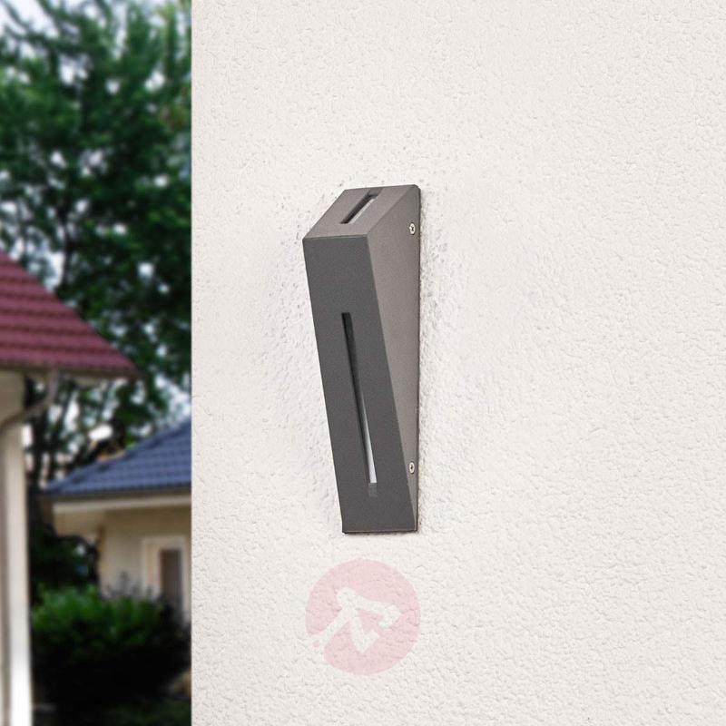 Dark grey LED wall lamp Calla for outdoors - Outdoor Wall Lights