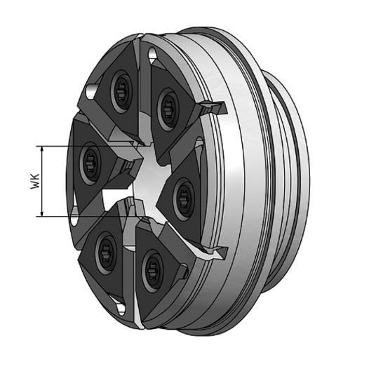Wirbelkopf mit Wendeplatten für Tornos-Maschinen - null