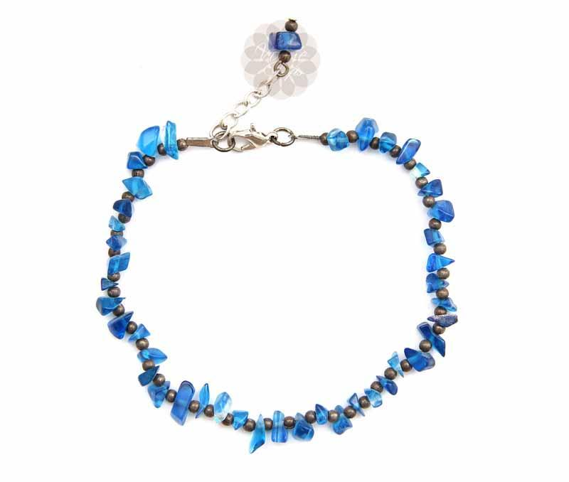 Blue Bead Anklet -
