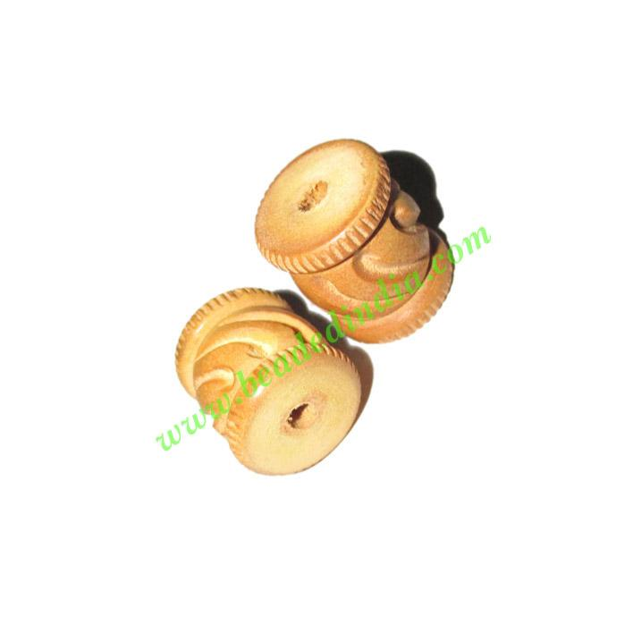 Natural Color Wooden Beads, size 15x18mm, weight approx 1.81 - Natural Color Wooden Beads, size 15x18mm, weight approx 1.81 grams