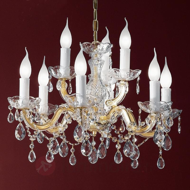 Magnifique lustre Dolores avec cristaux - Lustres en cristal