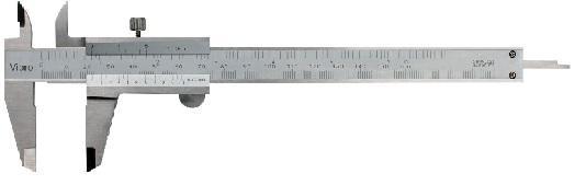 Pied à coulisse autobloquant I - Résolution:0.02mm  0.02mm/0.001''   0.05mm   0.05mm/1/128''