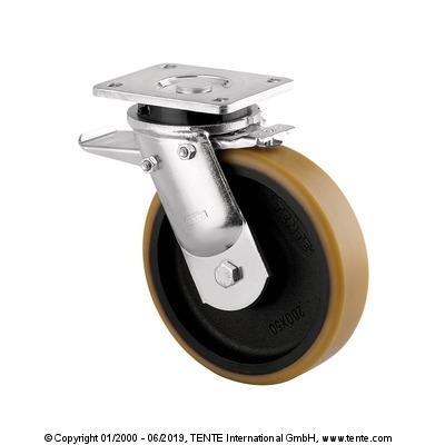 roulette pivotante à frein pour forte charge - null
