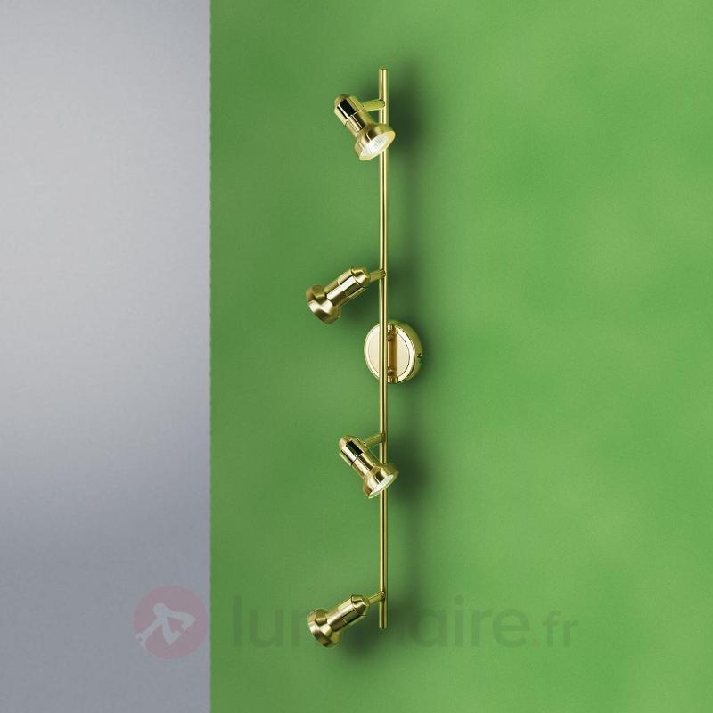 Plafonnier à 4 lampes Helene laiton - Plafonniers laiton/dorés
