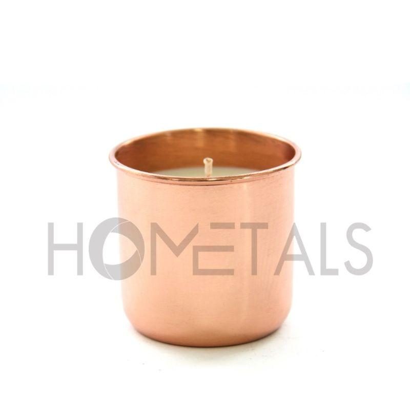 Copper finish scented soy wax candles, Copper finish scented candles
