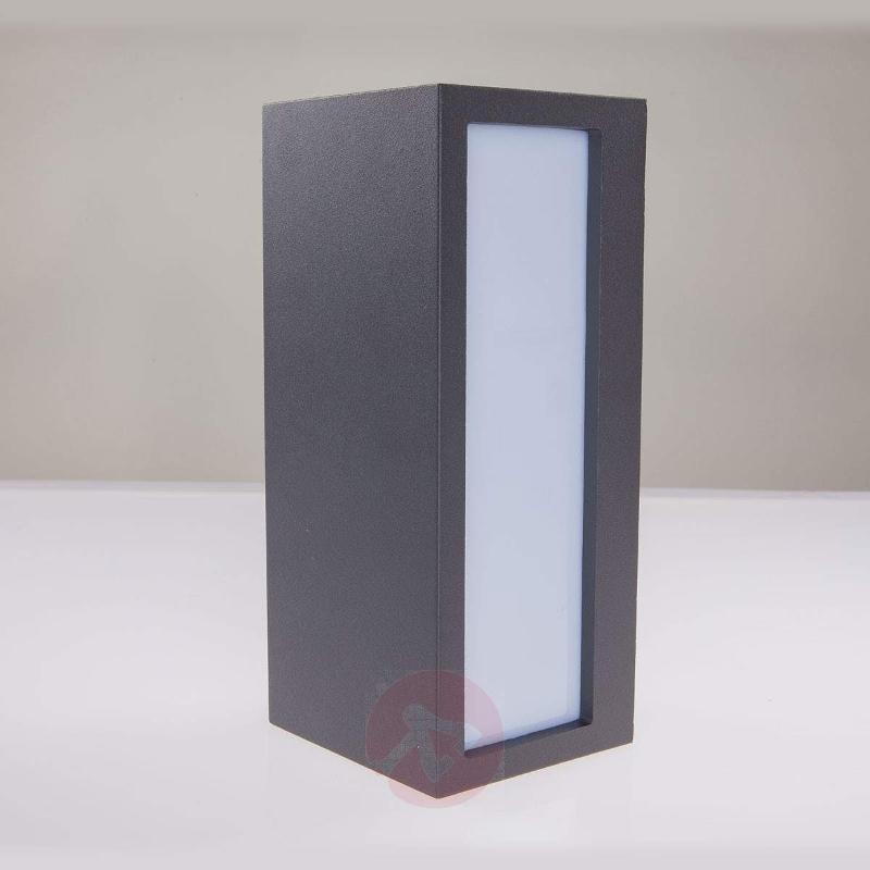 Bente - rectangular outdoor wall light, graphite - Outdoor Wall Lights