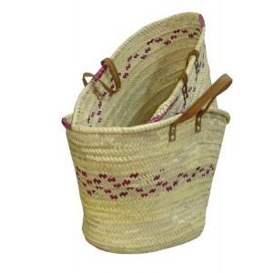 Couffin palmier coloré - Sacs et Cabas