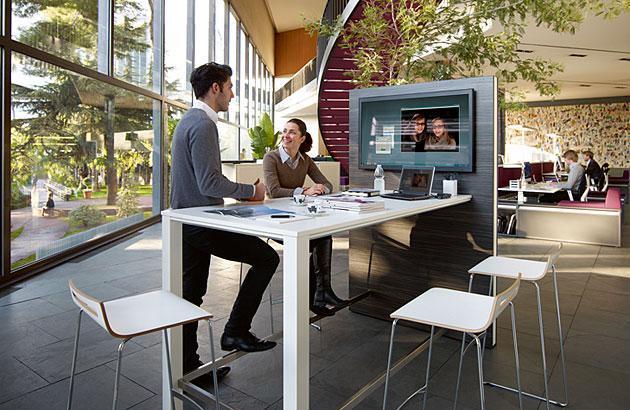 Stehtisch Meetingpoint highdesk - null