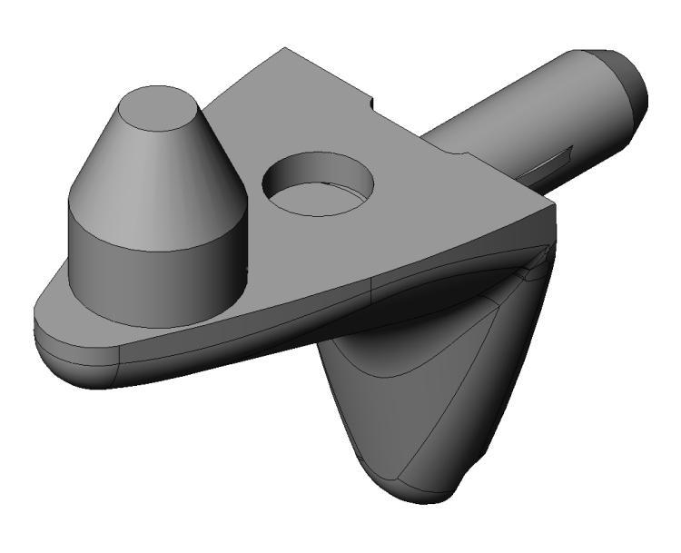 Bodenträger Optimus 3mm - Zamak - 2 Zapfen - vernickelt - Bodenträger Zn 2 Zapfen